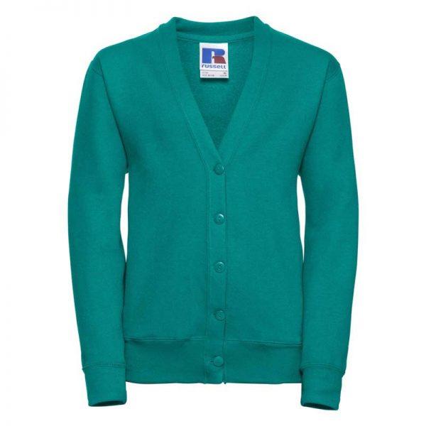 295g 50/50 PC Girls Sweatshirt Cardigan - JCK273-winter-emerald