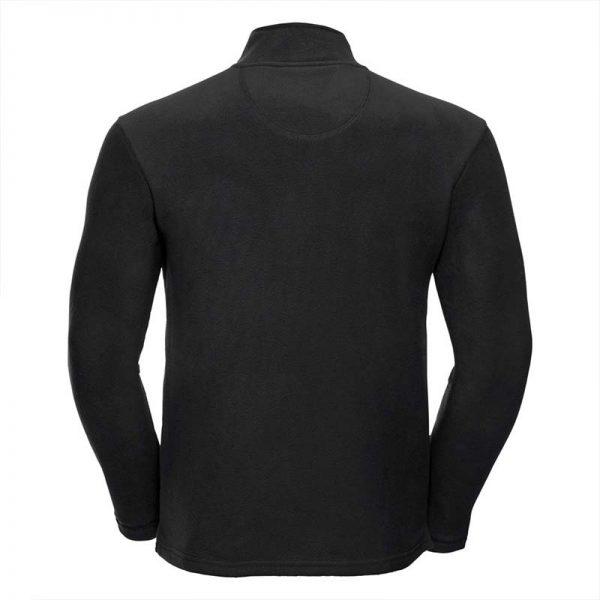 190gsm 100% Polyester Full Zip Microfleece - JMFA880-black-back
