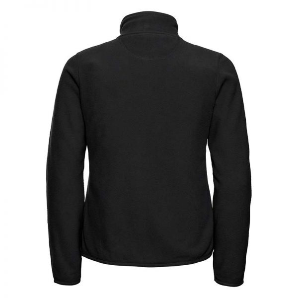 190g 100%Polyester Fitted Full Zip Ladies Microfleece - JMFL883-black-back