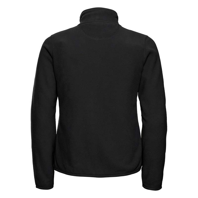 190g 100%Polyester Fitted Full Zip Ladies Microfleece - JMFL883-black-back