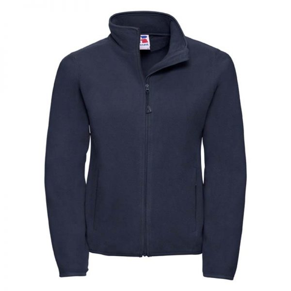 190g 100%Polyester Fitted Full Zip Ladies Microfleece - JMFL883-french-navy