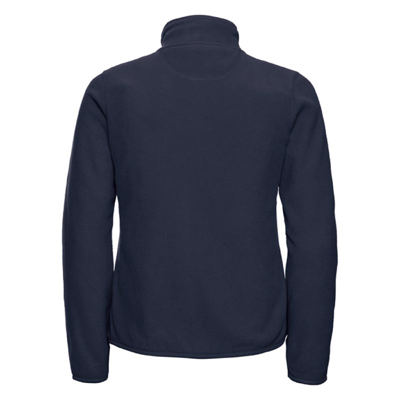 190g 100%Polyester Fitted Full Zip Ladies Microfleece - JMFL883-french-navy-back