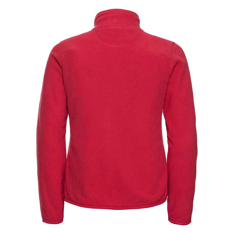 190g 100%Polyester Fitted Full Zip Ladies Microfleece - JMFL883-red-back