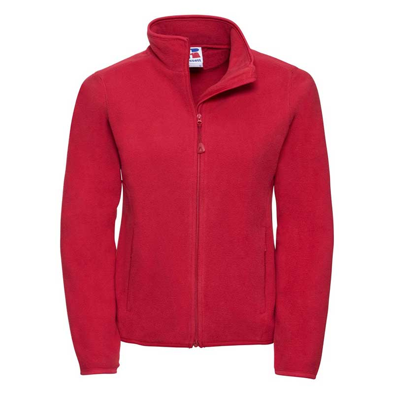 190g 100%Polyester Fitted Full Zip Ladies Microfleece - JMFL883-red