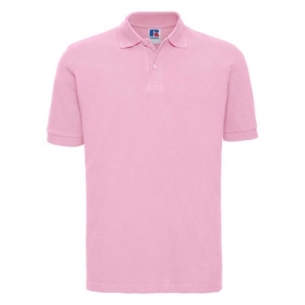 200g 100% Cotton Mens Classic Polo - JPA569-candy-pink