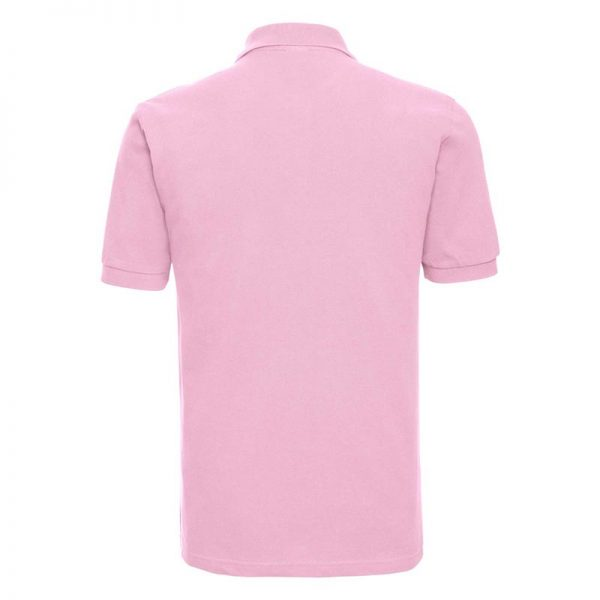 200g 100% Cotton Mens Classic Polo - JPA569-candy-pink-back