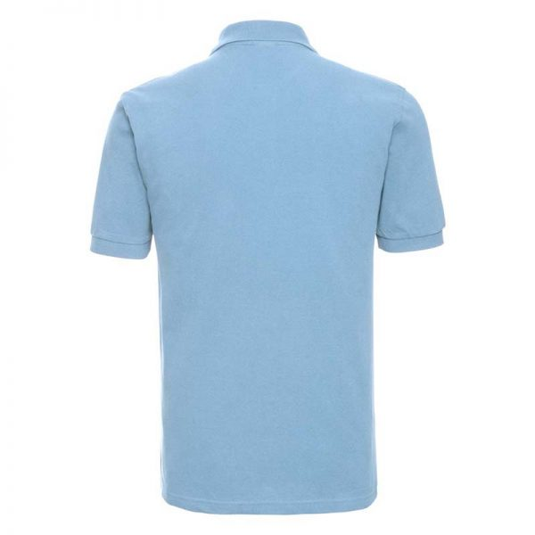 200g 100% Cotton Mens Classic Polo - JPA569-sky-back