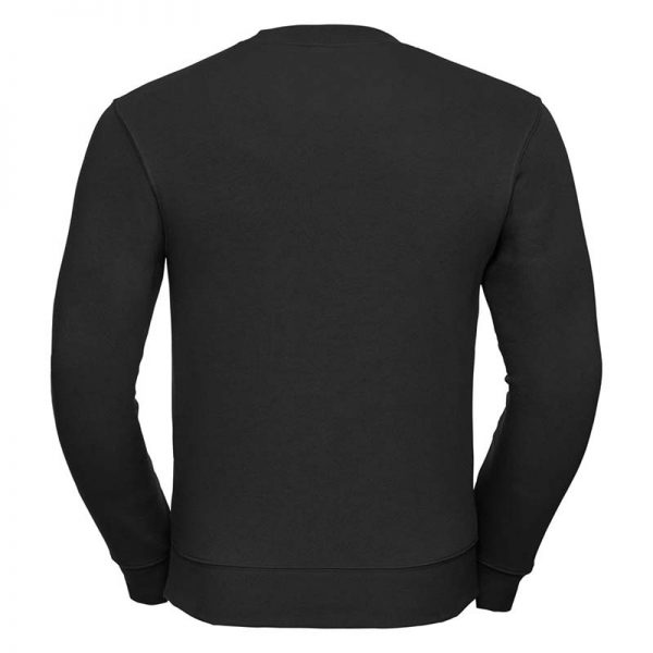 280gsm 80/20 CP Mens Set-In Comfort Authentic Crew Sweat Long Sleeve - JSA262-black-back