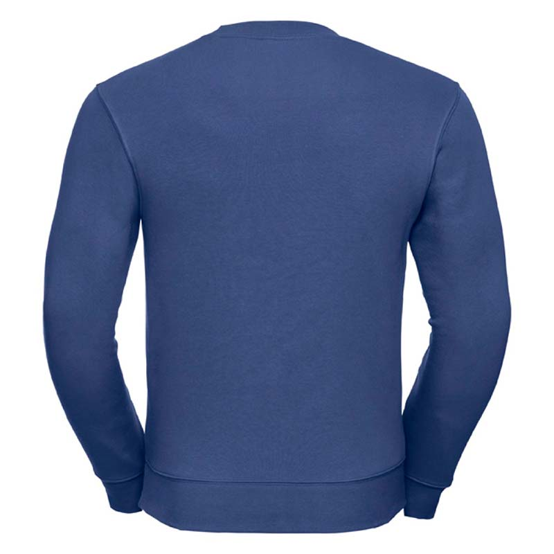 280gsm 80/20 CP Mens Set-In Comfort Authentic Crew Sweat Long Sleeve - JSA262-bright-royal-back