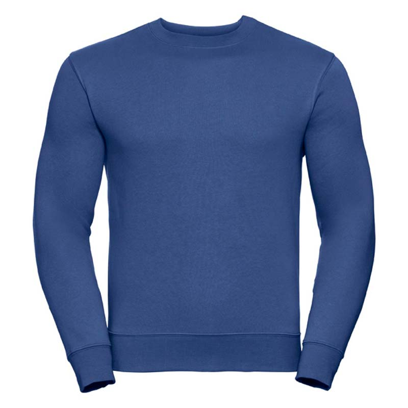 280gsm 80/20 CP Mens Set-In Comfort Authentic Crew Sweat Long Sleeve - JSA262-bright-royal