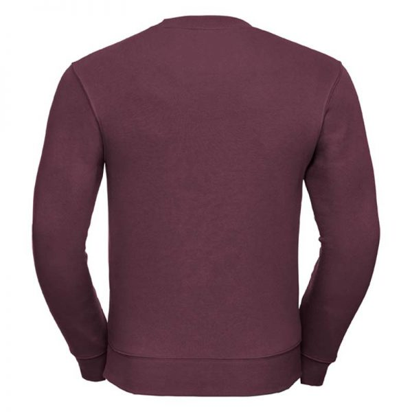 280gsm 80/20 CP Mens Set-In Comfort Authentic Crew Sweat Long Sleeve - JSA262-burgundy-back