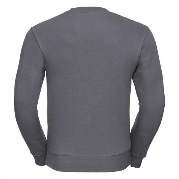 280gsm 80/20 CP Mens Set-In Comfort Authentic Crew Sweat Long Sleeve - JSA262-convoy-back