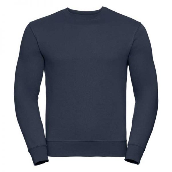 280gsm 80/20 CP Mens Set-In Comfort Authentic Crew Sweat Long Sleeve - JSA262-french-navy