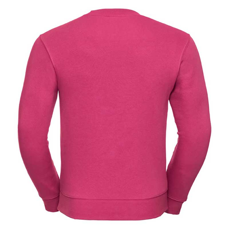 280gsm 80/20 CP Mens Set-In Comfort Authentic Crew Sweat Long Sleeve - JSA262-fuchsia-back