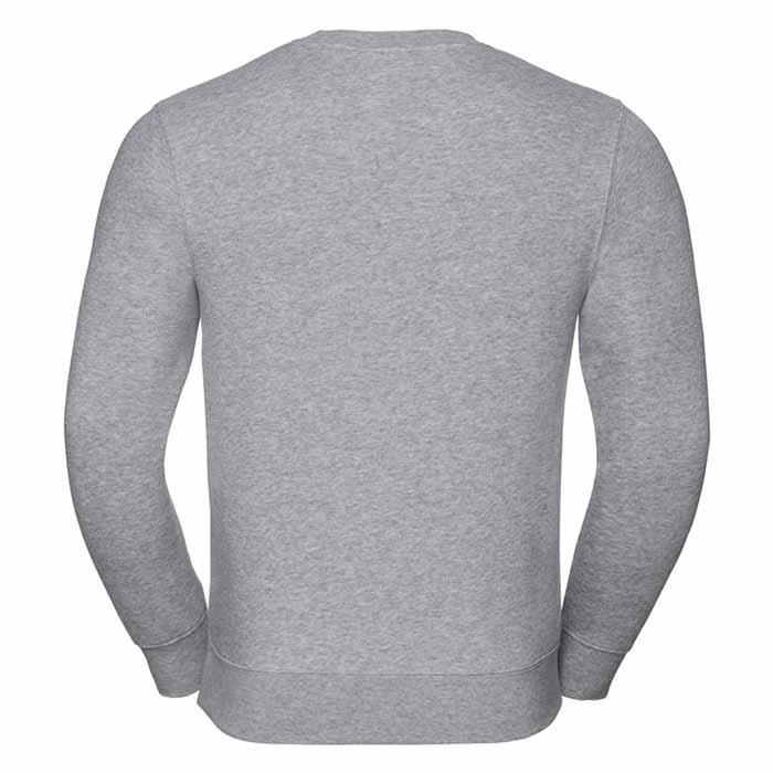 280gsm 80/20 CP Mens Set-In Comfort Authentic Crew Sweat Long Sleeve - JSA262-light-oxford-back