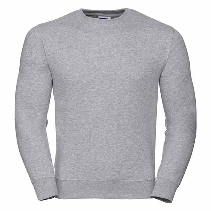 280gsm 80/20 CP Mens Set-In Comfort Authentic Crew Sweat Long Sleeve - JSA262-light-oxford