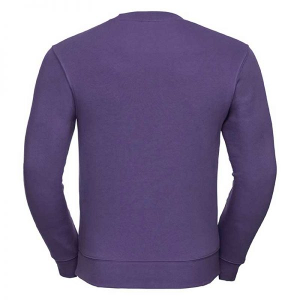 280gsm 80/20 CP Mens Set-In Comfort Authentic Crew Sweat Long Sleeve - JSA262-purple-back