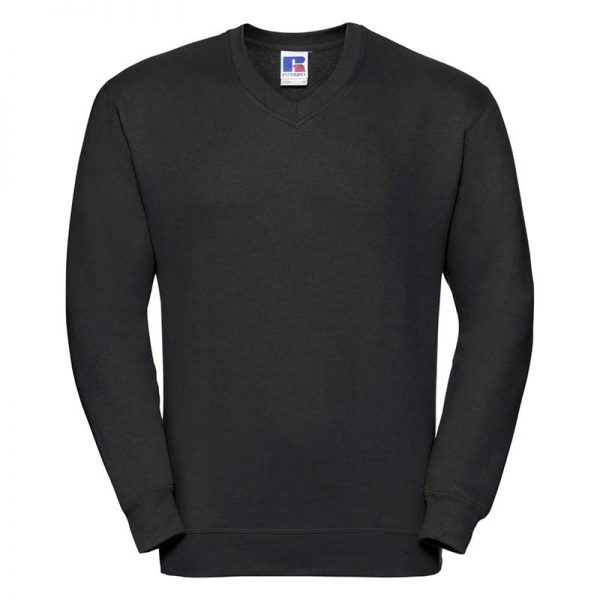 295g 50/50PC Mens V-neck Set-in Sweatshirt - JSA272-black