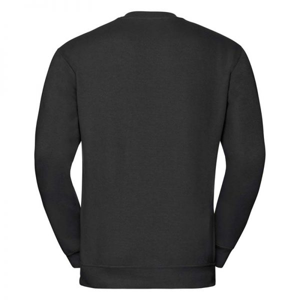 295g 50/50PC Mens V-neck Set-in Sweatshirt - JSA272-black-back