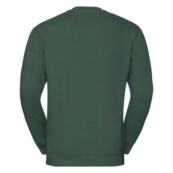 295g 50/50PC Mens V-neck Set-in Sweatshirt - JSA272-bottle-green-back