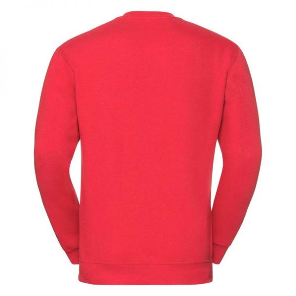 295g 50/50PC Mens V-neck Set-in Sweatshirt - JSA272-bright-red-back