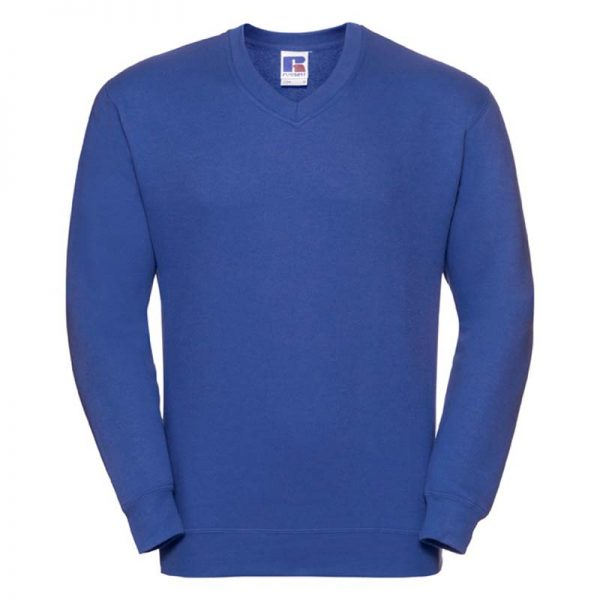 295g 50/50PC Mens V-neck Set-in Sweatshirt - JSA272-bright-royal