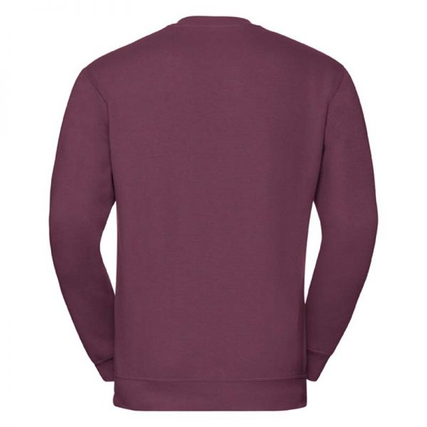 295g 50/50PC Mens V-neck Set-in Sweatshirt - JSA272-burgundy-back