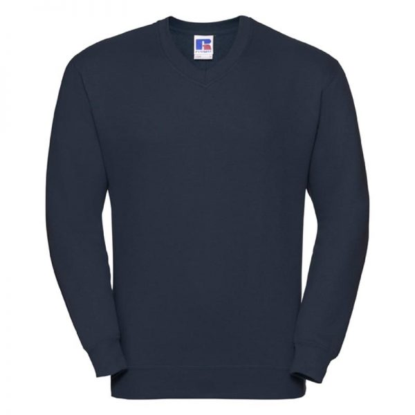 295g 50/50PC Mens V-neck Set-in Sweatshirt - JSA272-french-navy