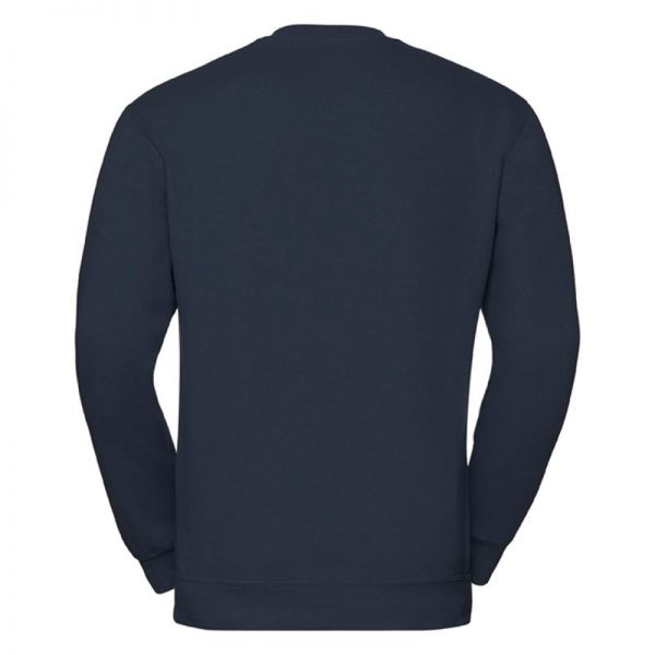 295g 50/50PC Mens V-neck Set-in Sweatshirt - JSA272-french-navy-back