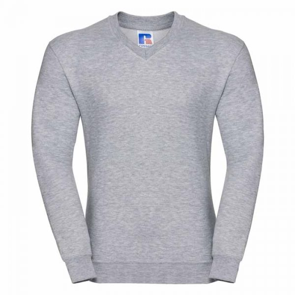 295g 50/50PC Mens V-neck Set-in Sweatshirt - JSA272-light-oxford
