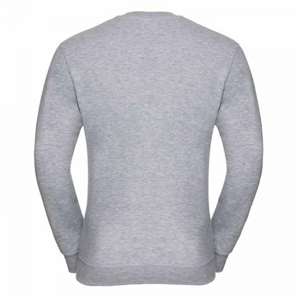 295g 50/50PC Mens V-neck Set-in Sweatshirt - JSA272-light-oxford-back