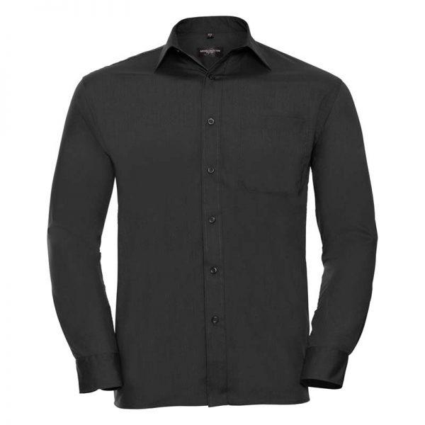110g 65/35 PC Easy Care Poplin Shirt Long-Sleeve - JSHA934-black