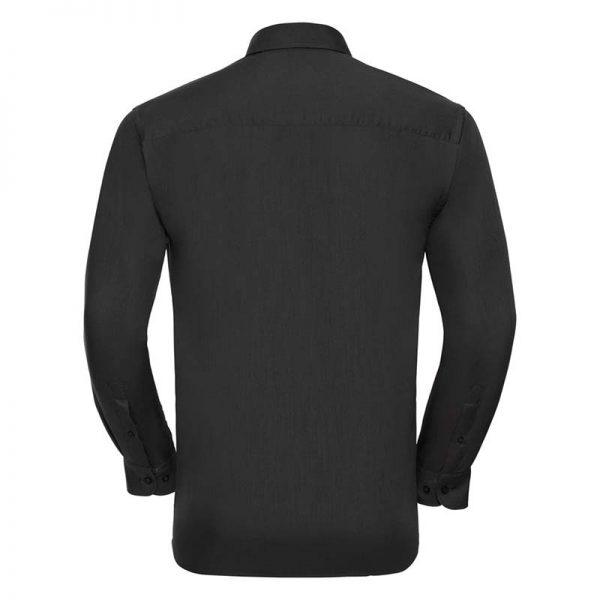 110g 65/35 PC Easy Care Poplin Shirt Long-Sleeve - JSHA934-black-back