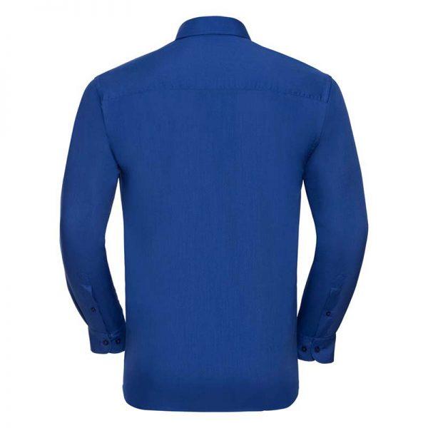 110g 65/35 PC Easy Care Poplin Shirt Long-Sleeve - JSHA934-bright-royal-back