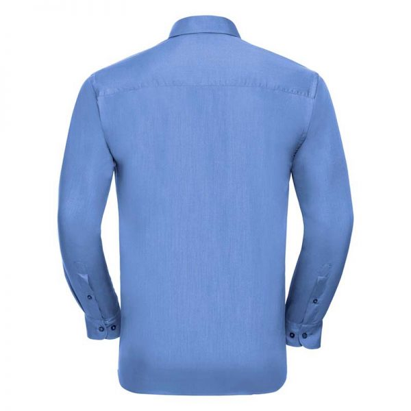 110g 65/35 PC Easy Care Poplin Shirt Long-Sleeve - JSHA934-corporate-blue-back