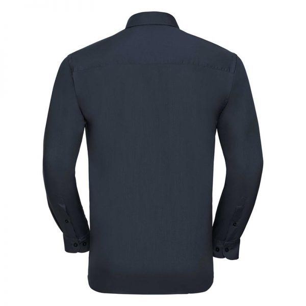 110g 65/35 PC Easy Care Poplin Shirt Long-Sleeve - JSHA934-french-nacy-back