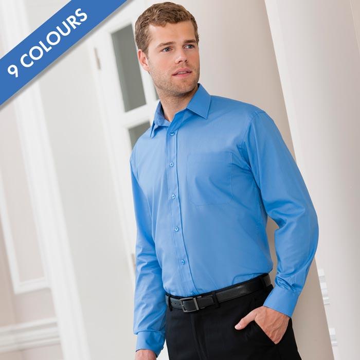 110g 65/35PC Easy Care Poplin Shirt Long-Sleeve-JSHA934