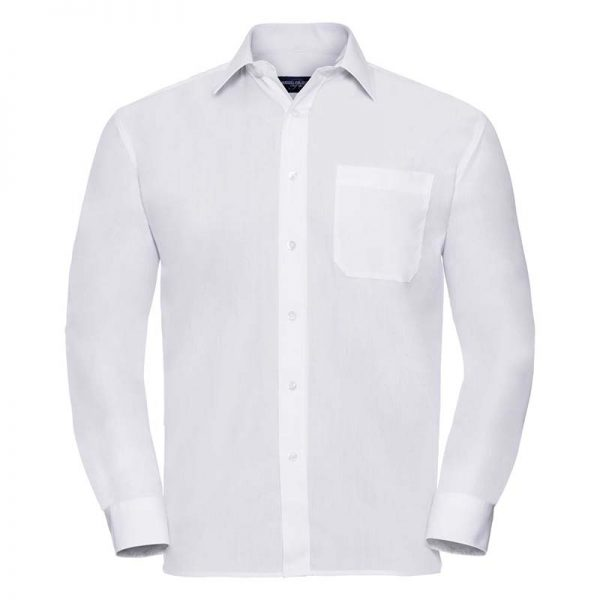 110g 65/35 PC Easy Care Poplin Shirt Long-Sleeve - JSHA934-white