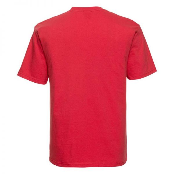 180gsm 100% Ringspun Cotton Classic T-Shirt Short Sleeve - JTA180-bright-red-back
