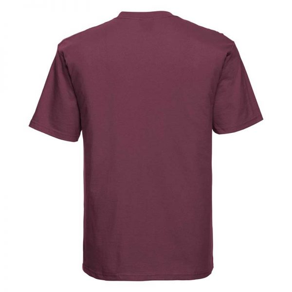 180gsm 100% Ringspun Cotton Classic T-Shirt Short Sleeve - JTA180-burgundy-back