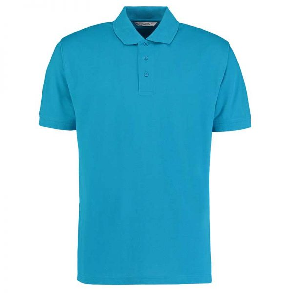 185gsm 65/35PC Mens Regular Klassic Polo - KK403-turquoise