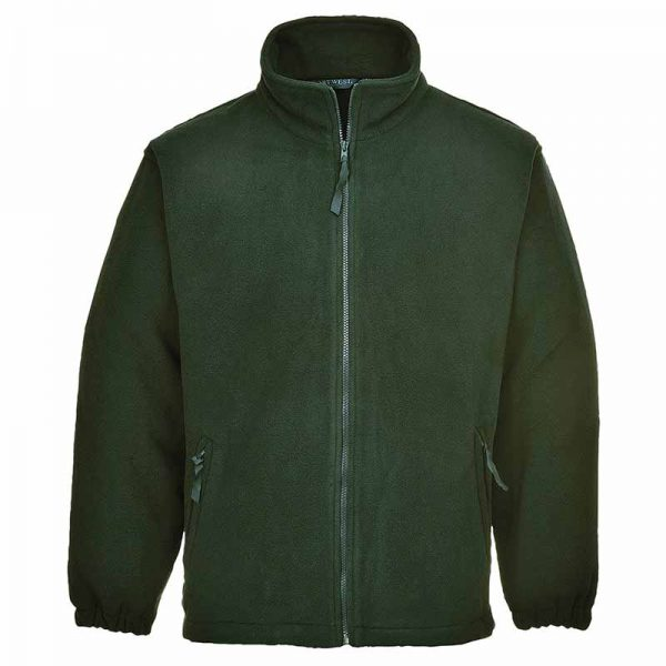 280g 100% Polyester Aran Fleece Jacket - OFA205-bottle-green