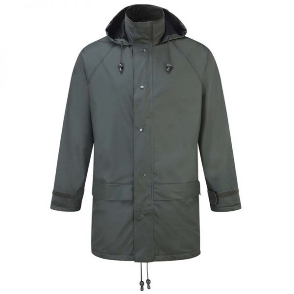 'Flex' Stretch PU Tricot Waterproof Jacket -OJAA220-olive