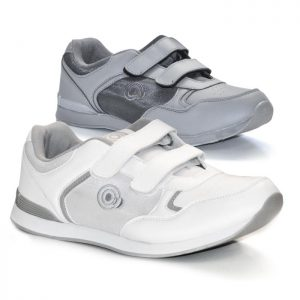 'Drive' Touch Fastening Trainer-Style Mens Bowling Shoes-PFOA837