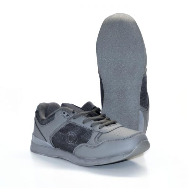 'KITTY' Touch Gastening Trainer-Style Ladies Bowling Shoe-PFOL838-Grey