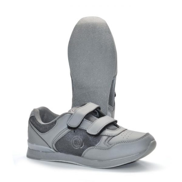 'SKIPPER' Velcro Touch Gastening Trainer-Style Ladies Bowling Shoe-PFOL839_Grey