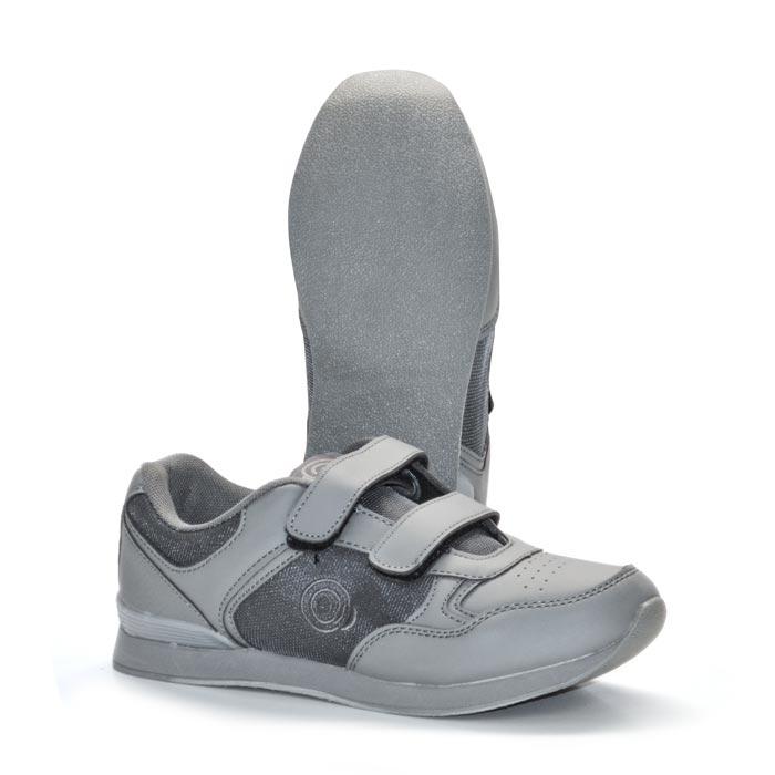 'SKIPPER' Velcro Touch Gastening Trainer-Style Ladies Bowling Shoe-PFOL839_Grey