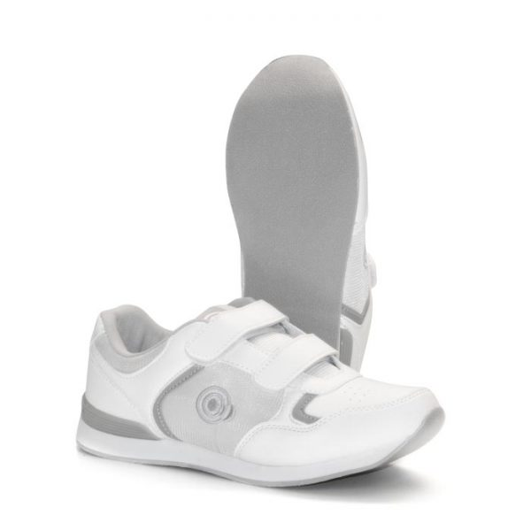 'SKIPPER' Velcro Touch Gastening Trainer-Style Ladies Bowling Shoe-PFOL839_White