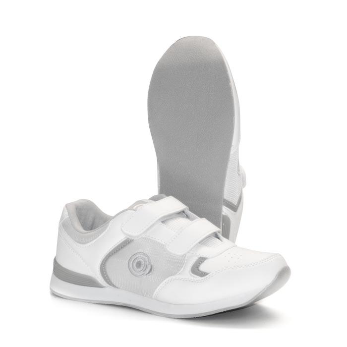 'SKIPPER' Velcro Touch Gastening Trainer-Style Ladies Bowling Shoe-PFOL839_White