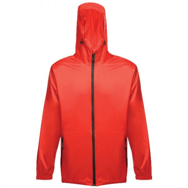 100% Polyester Waterproof Breathable Pro Packaway Jacket - RJAA248-red